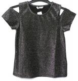 Glittrig cold shoulder topp